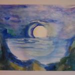 luna su acqua