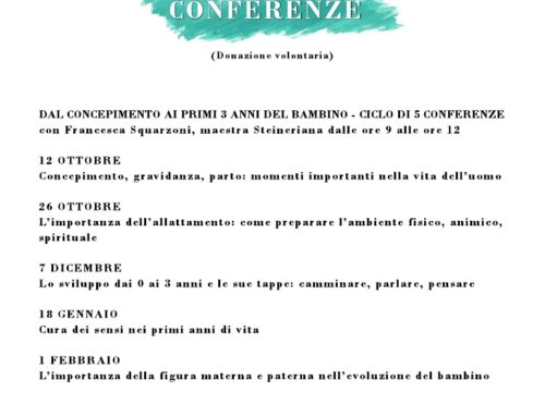ASSOCIAZIONE R. STEINER – Ciclo di conferenze: Dal concepimento ai primi 3 anni del bambino