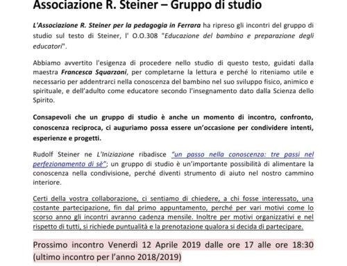 ASSOCIAZIONE R. STEINER – Gruppo di studio