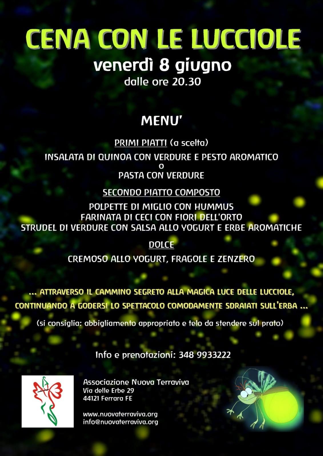 Cena con le lucciole @ Associazione Nuova Terraviva | Ferrara | Emilia-Romagna | Italia
