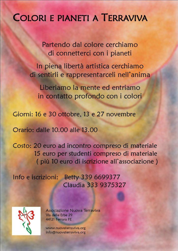 Colori e pianeti a Terraviva @ Associazione Nuova Terraviva | Ferrara | Emilia-Romagna | Italia
