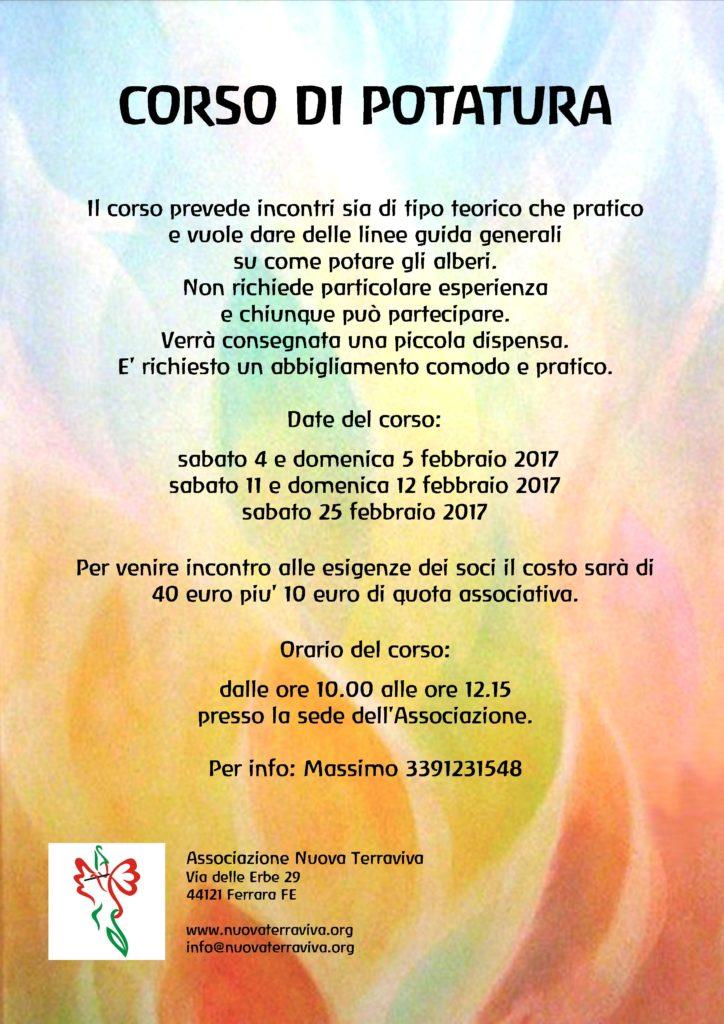 Corso di potatura @ Associazione Nuova Terraviva | Ferrara | Emilia-Romagna | Italia