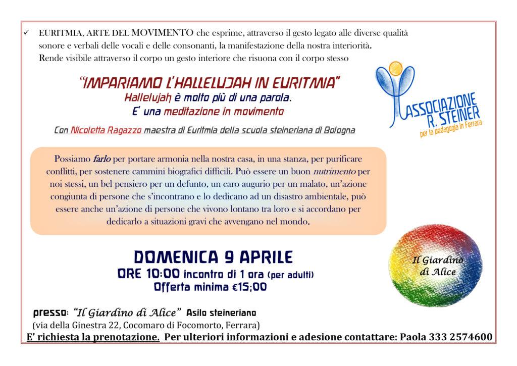 Impariamo l'Hallelujah in euritmia @ Il Giardino di Alice - Asilo Steineriano   Emilia-Romagna   Italia
