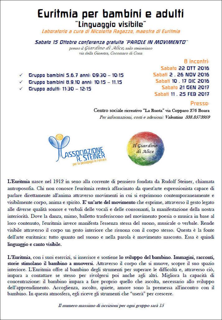 "Euritmia per bambini e adulti @ Centro sociale ricreativo ""La Ruota""  | Boara | Emilia-Romagna | Italia"