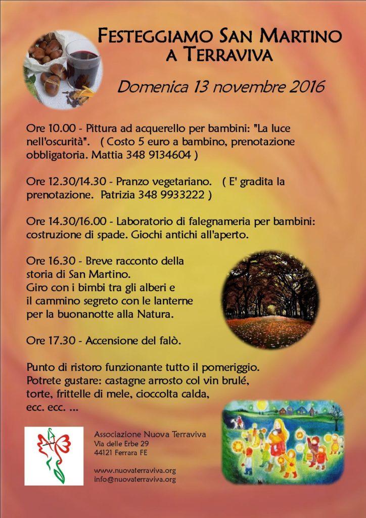 Festeggiamo San Martino a Terraviva @ Associazione Nuova Terraviva | Ferrara | Emilia-Romagna | Italia