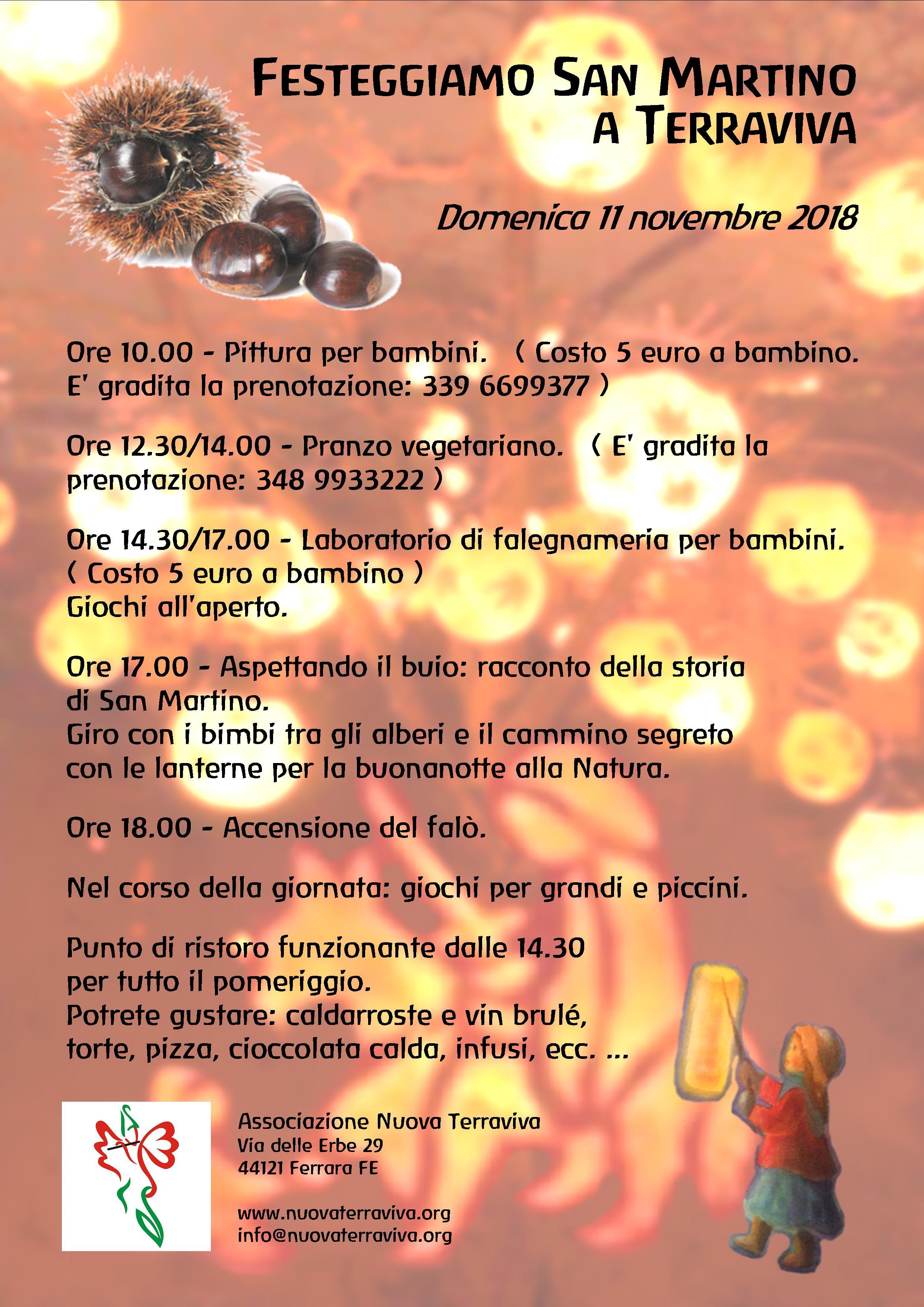 Festa di San Martino @ Associazione Nuova Terraviva | Ferrara | Emilia-Romagna | Italia