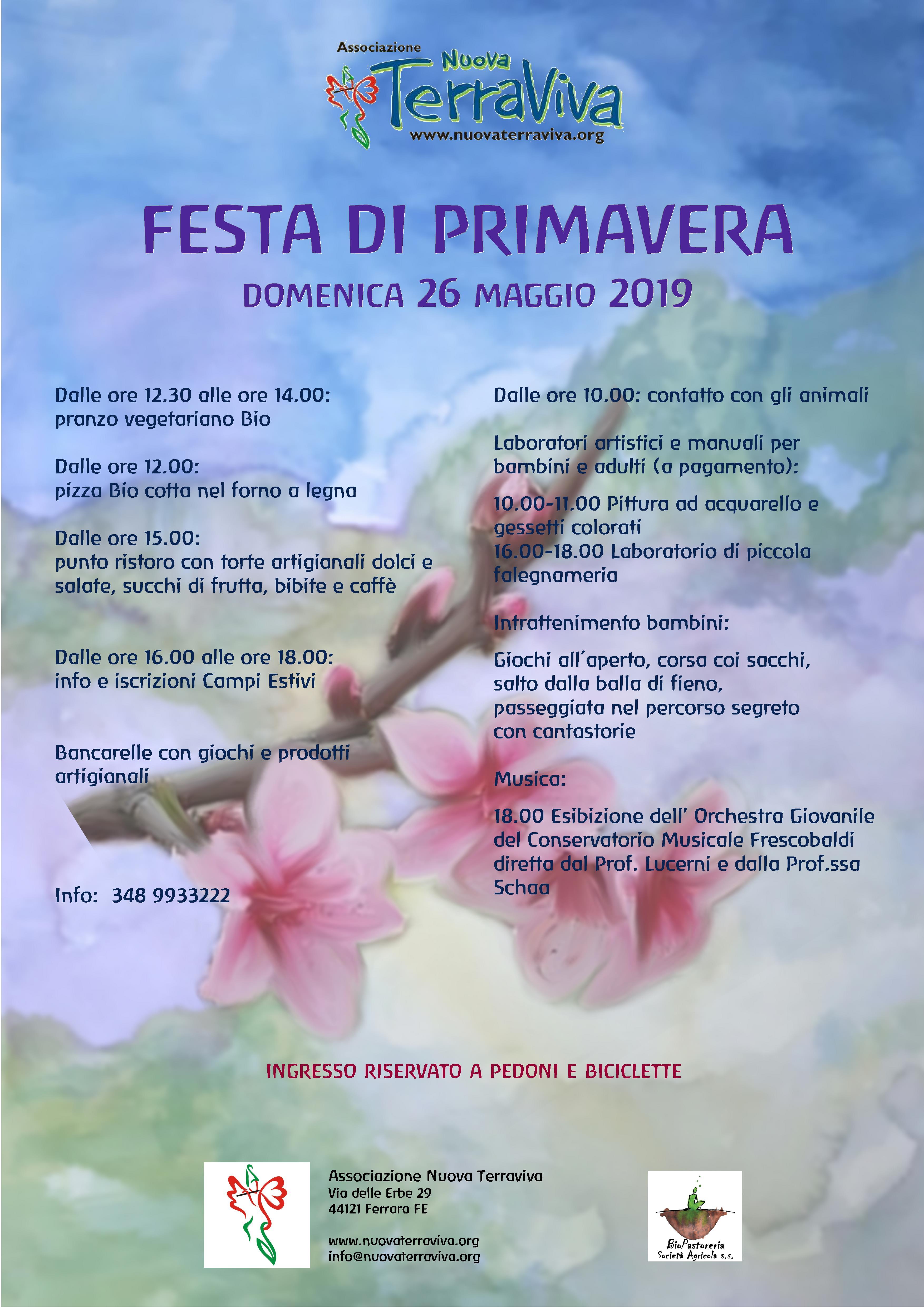 Festa di Primavera @ Associazione Nuova Terraviva | Ferrara | Emilia-Romagna | Italia