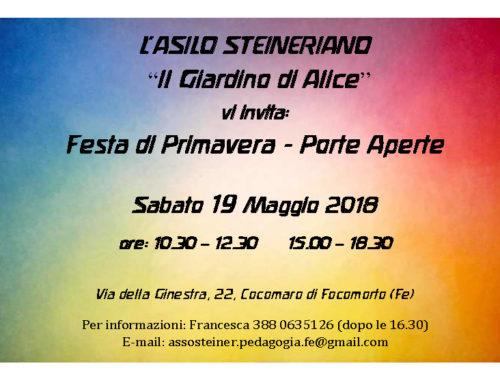 Festa di Primavera 2018 al Giardino di Alice