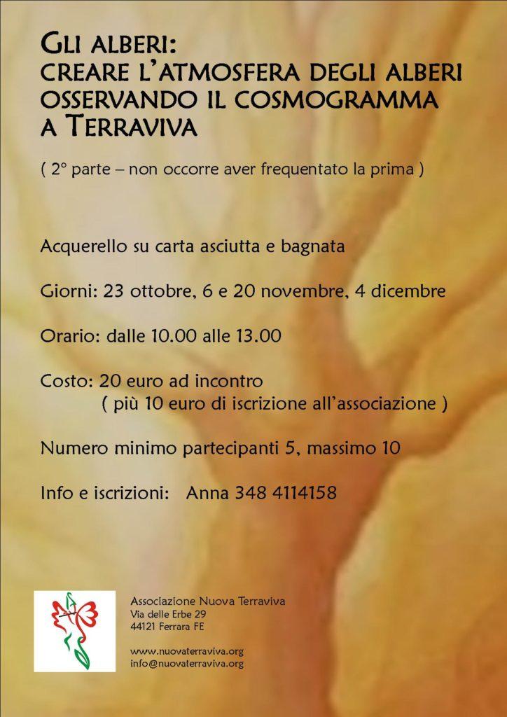 Gli alberi: creare l'atmosfera degli alberi osservando il cosmogramma a Terraviva @ Associazione Nuova Terraviva | Ferrara | Emilia-Romagna | Italia