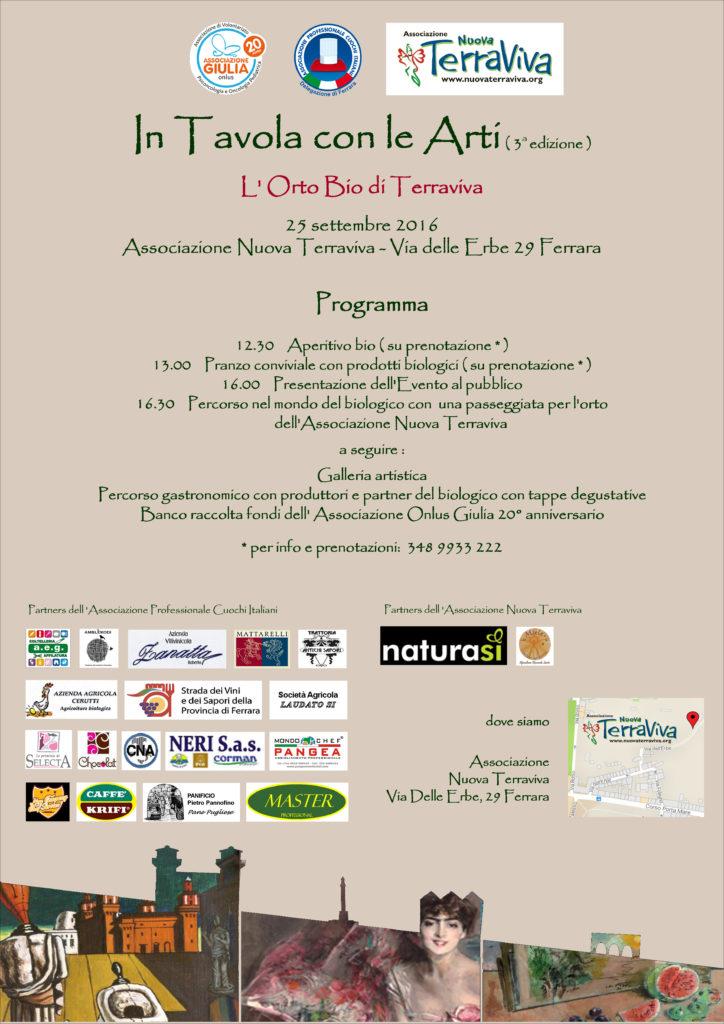 In Tavola con Le Arti - L'Orto Bio di Terraviva @ Associazione Nuova Terraviva | Ferrara | Emilia-Romagna | Italia