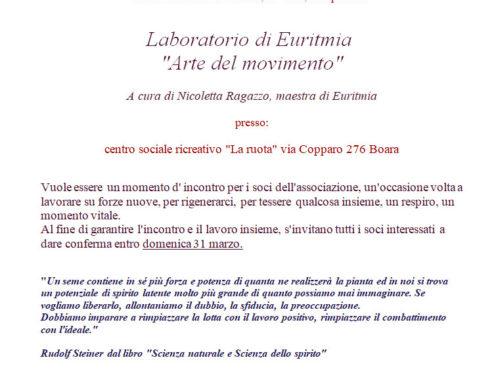 """LABORATORIO DI EURITMIA """"Arte del movimento"""""""