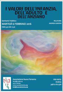 I valori dell'infanzia, dell'adulto e dell'anziano @ Associazione Nuova terraviva | Ferrara | Emilia-Romagna | Italia