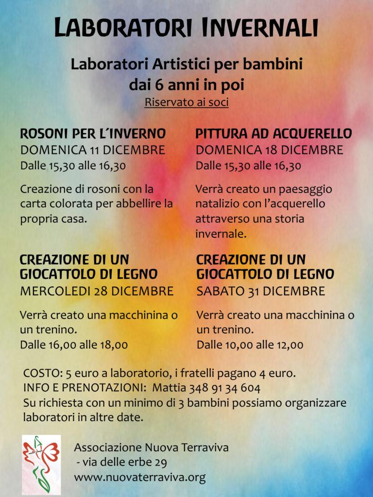Laboratori invernali @ Associazione Nuova Terraviva | Ferrara | Emilia-Romagna | Italia