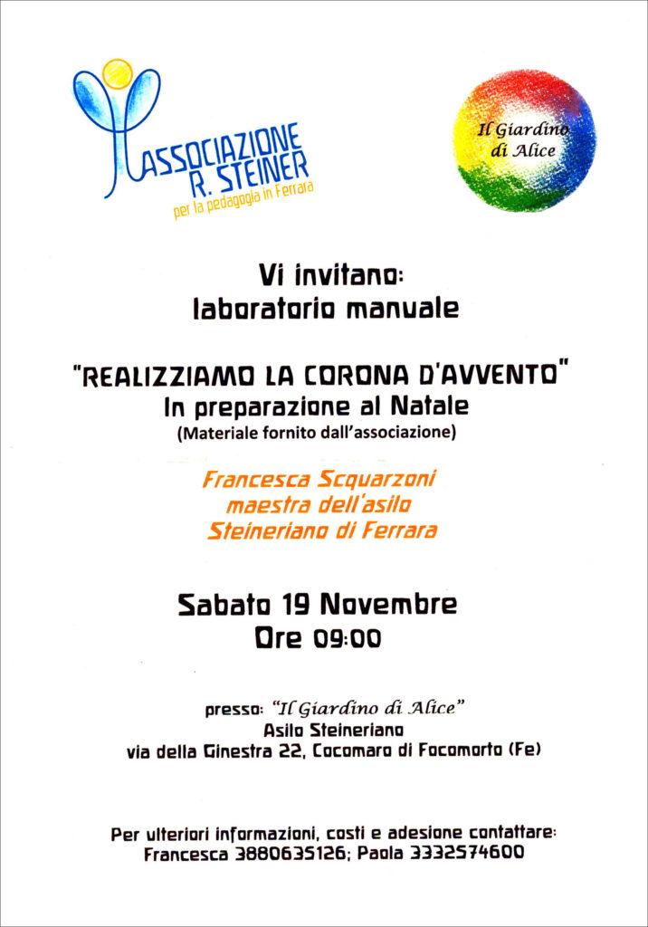 Realizziamo la corona d'Avvento @ Il Giardino di Alice - Asilo Steineriano | Emilia-Romagna | Italia